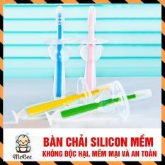 Bàn chải đánh răng Silicon an toàn cho bé SHOPMEBEE