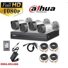 Trọn Bộ Camera Giám Sát Dahua 2 0MP Full HD 1080P