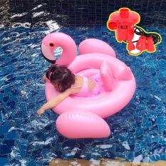 Phao bơi bể bơi trẻ em hình Thiên Nga Hồng Hạc-Tặng bơm điện