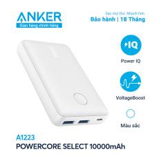 Sạc dự phòng ANKER PowerCore Select 10000mAh – A1223 – Thiết kế nhỏ gọn và nhẹ, 2 cổng sạc USB-A tiện lợi, vật liệu chống trượt và chống bám vân tay