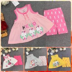 Combo 4 bộ quần áo cho bé gái (hàng đẹp)-Bộ mặc nhà cao cấp cho bé