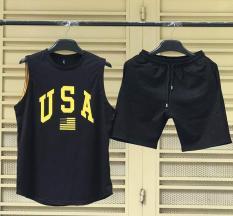 XẢ HÀNG GIÁ GỐC – Bộ Đồ Thể Thao BA LỔ Xách Nách USA Nam Vải Thun Lạnh Co Dãn 4 Chiều Cực Chất và Thoáng Khí – FashionClassyShop