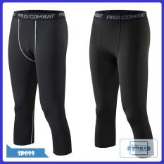 Quần legging đùi nam Pro combat T-Rex Shop SP099 – Quần giữ nhiệt nam (Men Legging Pants,đồ tập quần áo gym, thể dục,thể hình, Fitness)