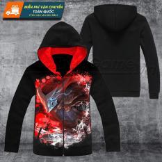 Áo khoác LMHT Yasuo Huyết nguyệt (3D Black) Mẫu mới, hàng đẹp