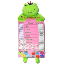 Kids Calendar Toy Time Learning Weather Seasons Early Educational Fabric Hanging Calendars Calendrier Educatif Toys