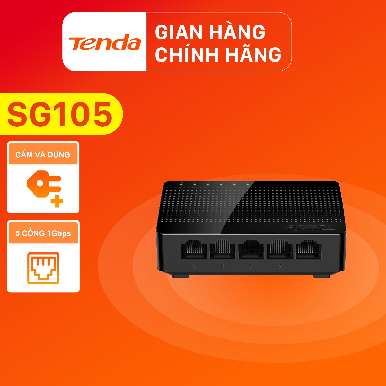 Tenda Bộ chia mạng Switch SG105 5 cổng Gigabit – Hãng phân phối chính thức