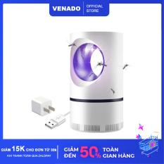 [Tặng củ sạc] Đèn bắt muỗi thông minh led 360 độ hình Trụ – Venado Không dùng hóa chất, không gây hại sức khỏe, an toàn cho mẹ và bé