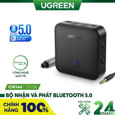 Bộ nhận và phát Bluetooth 5.0 hỗ trợ SPDIF Optical và atpX UGREEN CM144 70158