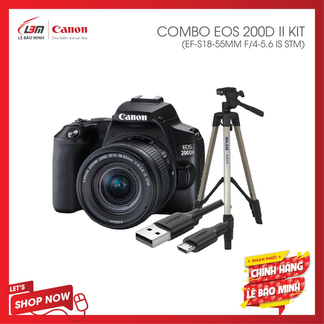 Máy ảnh Canon EOS 200D Mark II KIT EF-S18-55mm IS STM – Chính Hãng Lê Bảo Minh