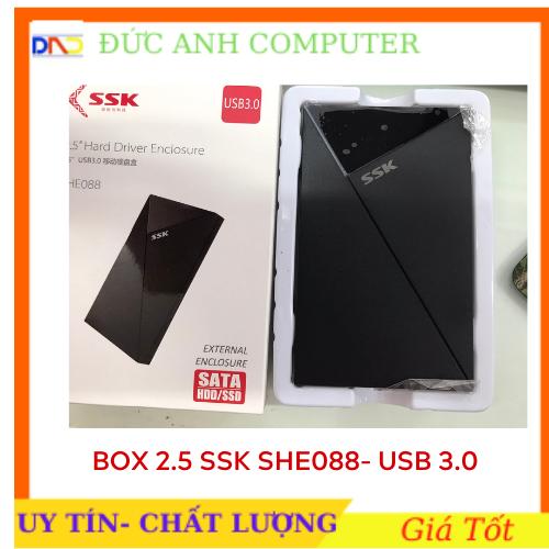 Hộp Đựng Ổ Cứng HDD BOX SATA 2.5 USB 3.0 SSK (SHE-088)- Chính Hãng Full Box, Bảo Hành 6 Tháng