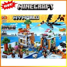 Lắp Ráp Xếp Hình My World MineCraftt Sáng Tạo Mô Hình Bảo Vệ Nông Trại Trên Tuyết 585 Khối CB35070 – Đồ Chơi Trẻ Em