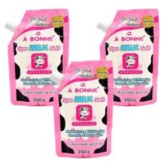 Combo 3 Bịch Muối tắm sữa bò tẩy tế bào chết A Bonne Spa Milk Salt Thái Lan 350gr