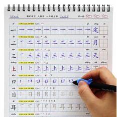 Vở Tập Viết Tiếng Trung cơ bản từ đầu – luyện viết chữ hán mực bay màu + Tặng 1 Bút 20 Ngòi mực