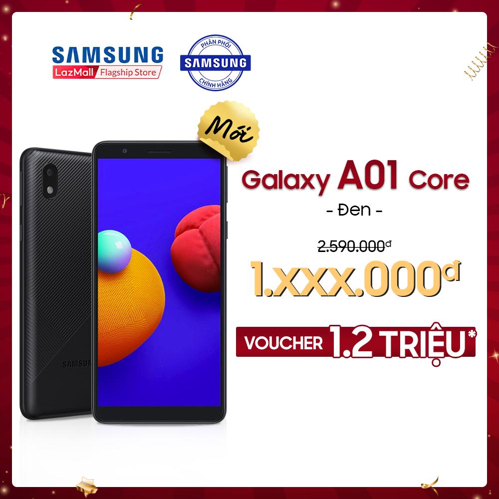 [PHIÊN BẢN MỚI] Điện thoại Samsung Galaxy A01 Core (2GB/32GB) – Màn hình chuẩn HD+ – Mới 100% – Bảo Hành 12 tháng – Miễn phí vận chuyển