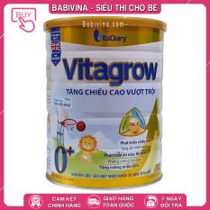 Sữa Vitagrow 0+ 900g | Trẻ 0-1 Tuổi, Phát Triển Chiều Cao, Cân Nặng Vượt Trội | Hãng Vitadairy Việt Nam | Babivina Sữa Chính Hãng, Bán Lẻ Giá Sỉ