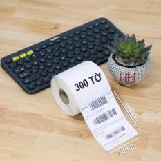 300 tờ giấy A7 in tem đơn hàng phiếu vận chuyển shopee và TMĐT tự dán 75x100mm dành cho máy in nhiệt