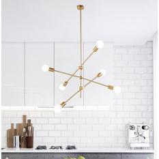 Đèn trần, đèn thả trần, đèn chùm 6 led điều chỉnh 360 độ linh hoạt trang trí phòng khách, phòng ăn, phòng tiệc bàn ăn cao cấp DH-DH0011