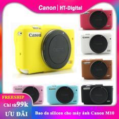 [HCM]Bao da silicon ốp lưng cho máy ảnh cho Canon M10