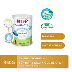 [QUÀ TẶNG HOT] Sữa bột dinh dưỡng công thức HiPP 1 Organic Combiotic chất lượng hữu cơ tự nhiên an toàn, hỗ trợ, tăng cường sức khoẻ hệ miễn dịch, bổ sung omega 3,6 (DHA&ARA) dành cho trẻ dưới 6 tháng tuổi 350g