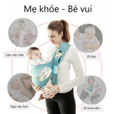 Địu Em Bé Mô Phỏng Tự Nhiên – Địu Cho Bé 3 Tư Thế Bằng Vải Cao Cấp – Timikid – địu đa năng, an toàn cho bé
