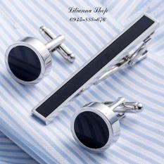 Bộ măng séc cùng kẹp cà vạt cravat