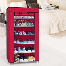 Tủ giày dép 7 tầng 6 ngăn bọc vải cao cấp, TỦ VẢI ĐỰNG GIÀY DÉP 7 TẦNG 6 NGĂN (Được chọn màu)