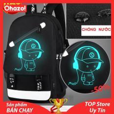 Balo nam phát sáng cao cấp tặng kèm cáp sạc điện thoại USB và Khóa số chống trộm HÓT 2019