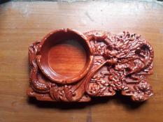 gạt tàn gỗ hương hình rồng – gạt tàn – gạt tàn gỗ hương