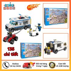 Lego cảnh sát bắt tội phạm, đồ chơi xếp hình cho bé.