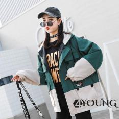 Áo Khoác kaki nữ 2 lớp phong cách Hàn Quốc cao cấp KK1