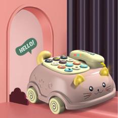 [HCM]Điện thoại đồ chơi mô hình ô tô chú mèo ngộ nghĩnh có nhạc cho bé LQ215 – đồ chơi âm nhạc cho bé phát triển trí tuệ – thị trấn đồ chơi