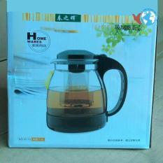 Ấm pha trà thủy tinh có lõi lọc Inox 1.3 Lít DELI giao màu ngẫu nhiên (CÒN ĐEN)
