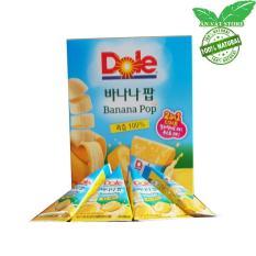 Kem Trái Cây Nguyên Chất Nhập Khẩu Hàn Quốc 1 Hộp 8 Bịch 63ml (bỏ tủ đá hoặc uống trực tiếp ) – Trái Chuối – Ăn Vặt Store