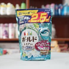 Túi 44 viên giặt, xả Gel Ball màu xanh nội địa Nhật Bản