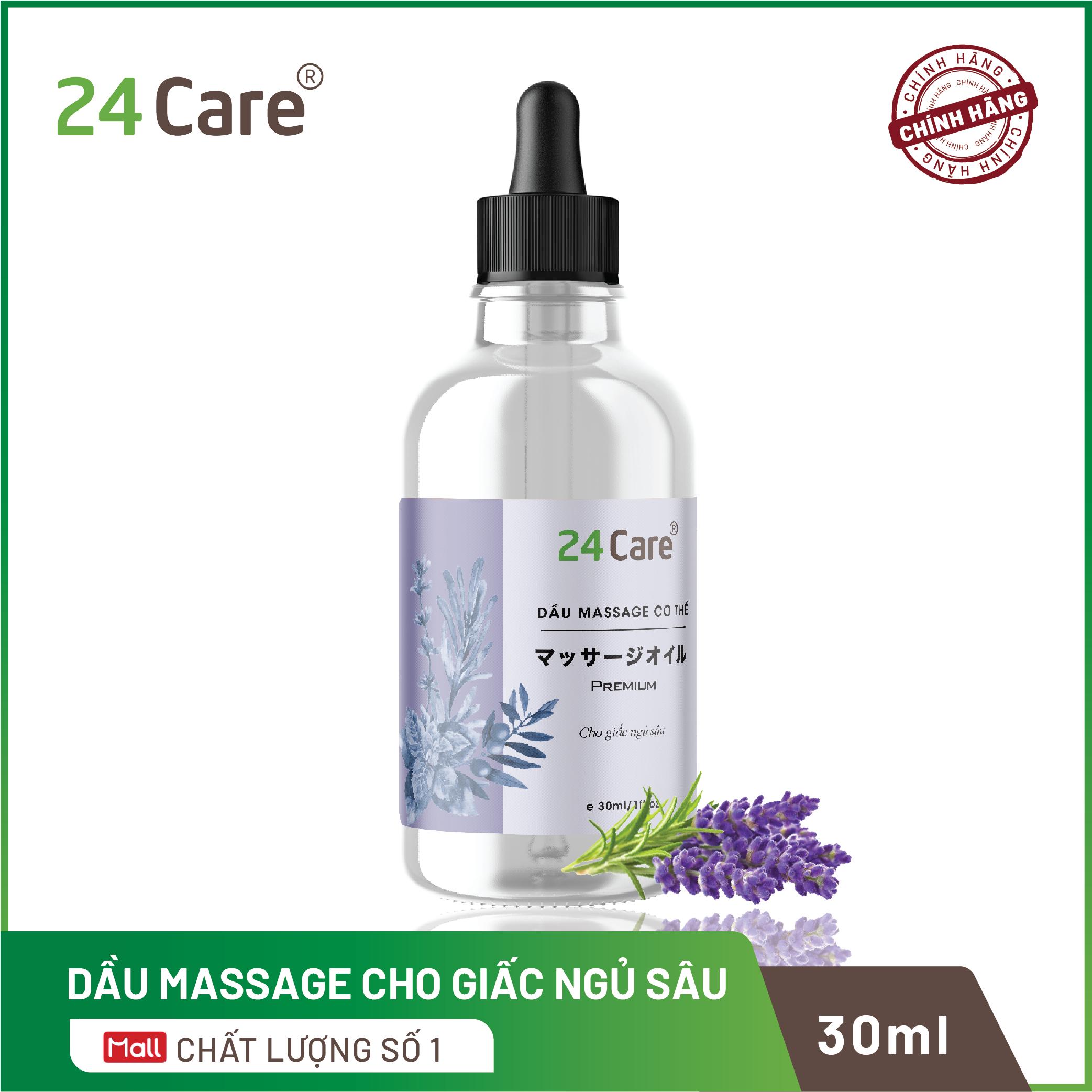 Dầu massage tinh dầu cho giấc ngủ ngon 24care – dành cho nam và nữ 30ml