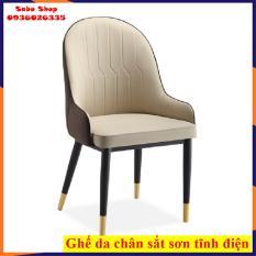 Ghế Monet nệm chân sắt sơn tĩnh điện mạ chân đồng , ghế ăn – ghế văn phòng – ghế cafe