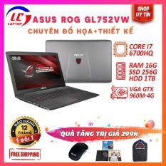 Laptop Chuyên Đồ Họa Màn To Đẹp, Chỉnh Sửa Video Cực Chuẩn ASUS ROG GL752VW, i7-6700HQ, VGA Nvidia GTX 960M-4G, Màn 17.3 fullHD, LaptopLC298