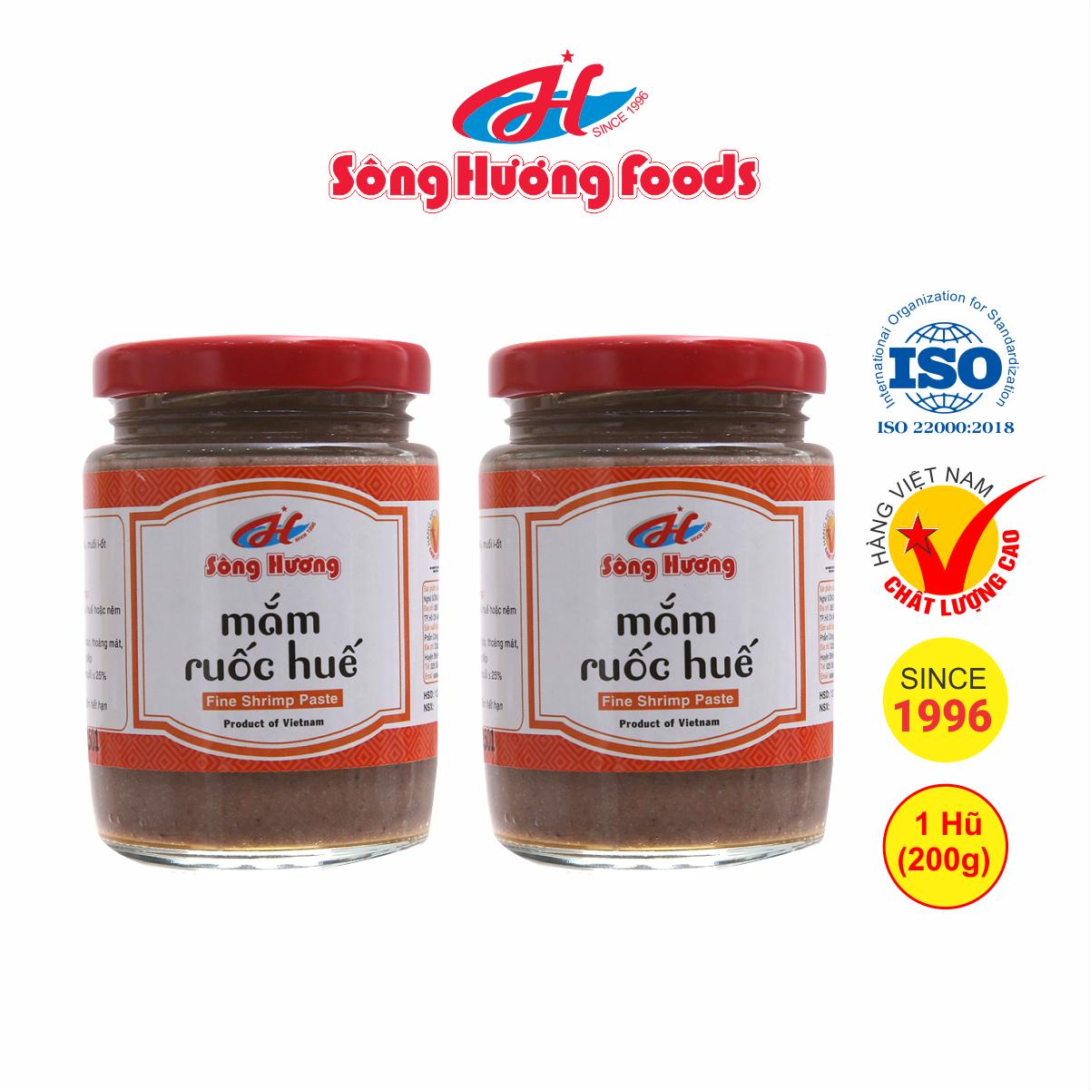 2 Hũ mắm ruốc huế Sông Hương Foods hũ 200g