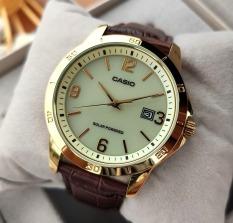 Đồng hồ nam Casio MTP-VS02GL-9ADF Dây da viền vàng nam tính