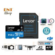 Thẻ nhớ MicroSDXC Lexar 512GB A2 V30 U3 4K 633x 100MB/s – With Adapter