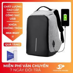 Balo chống trộm, chống nước Có Cổng Sạc USB vừa laptop 16inch 1120 + TẶNG PIN SẠC DỰ PHÒNG (Xám)