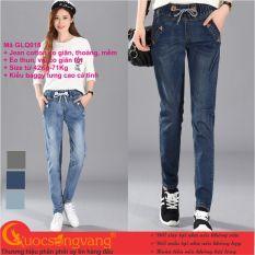 Quần jean harem lưng thun gốc cotton co giãn quần nữ harem lưng cao GLQ018