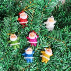 Bộ 6 ông già noel đáng yêu trang trí cây thông, trang trí giáng sinh tuancua (OGN06)
