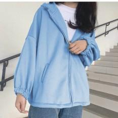 [FREESHIP TOÀN QUỐC] áo khoác nam nữ form rộng trơn có dây kéo