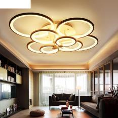 Đèn trần trang trí phòng khách LED 8 cánh hoa hải đường 3 chế độ màu có điều khiển Lighthouse
