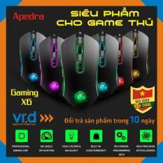 Chuột cho máy tính có dây chuyên Gaming Apedra A6 Gaming LED USB – Led dổi màu – độ nhạy max 3200 DPI