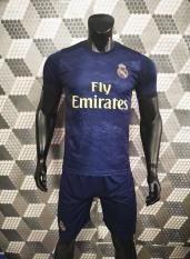 Bộ quần áo bóng đá REAL MADRID màu XANH ĐEN đồ đá banh mới 2019-20