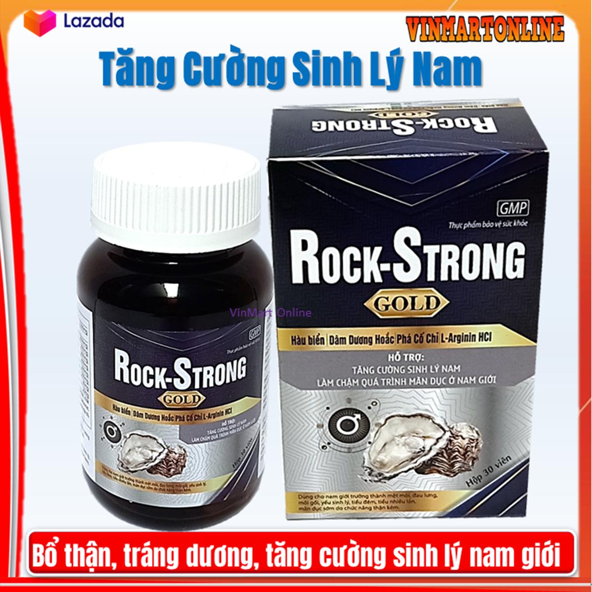[Chính hãng] Hàu Biển Rock Strong Gold – Bổ thận tráng dương , tăng cường sinh lý- Hộp 30 Viên