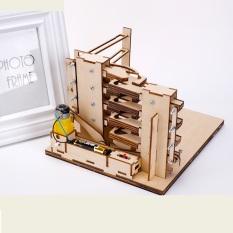 Mô hình Truyền động bánh răng 3D Hình Bậc thang Chạy bằng Pin LG01