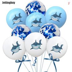 10 Quả Bóng Bay Cao Su Jettingbuy Hình Cá Mập, Đồ Trang Trí Tiệc Sinh Nhật, Tiệc Mừng Em Bé Sắp Chào Đời